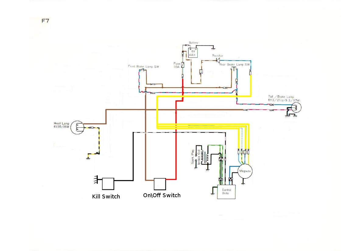 F7 175 Wiring Diagram AMG re rehashing my 1974 kawasaki f7 175 adventure rider motorcycle magneto wiring diagram at nearapp.co